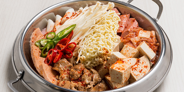 Budae Jjigae (Army Stew) from Bonchon (Boat Quay) in Boat Quay, Singapore