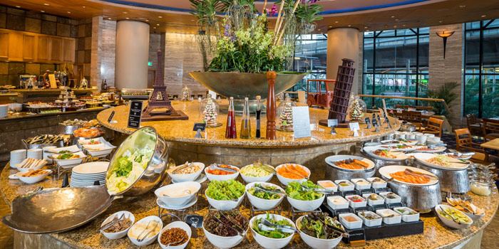 Buffet Area from Orchid Cafe at Sheraton Grande Hotel, Bangkok
