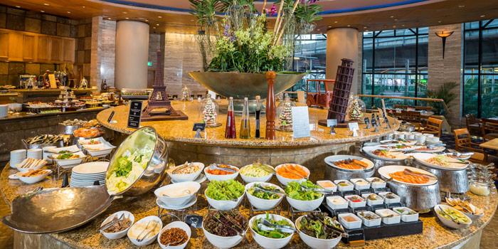 Buffet Area from Orchid Cafe at Sheraton Grande Hotel, Bangkok