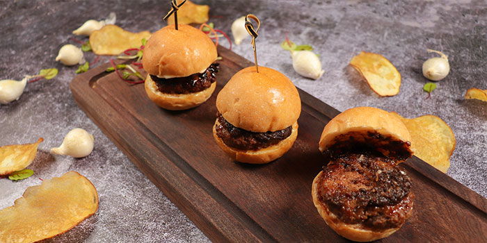 Bulgogngi Angus Beef Sliders with Bacon, PONG Knutsford, Tsim Sha Tsui, Hong Kong