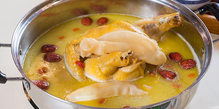 Chicken & Fish Maw Soup, A Fat Hotpot, Tsim Sha Tsui, Hong Kong