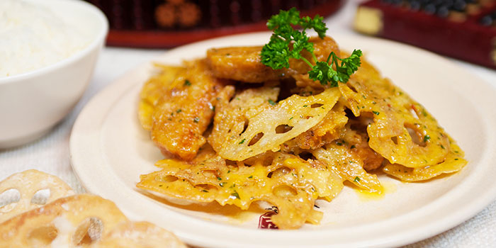 Golden Lotus Root from Dian Xiao Er (VivoCity) in Harbourfront, Singapore