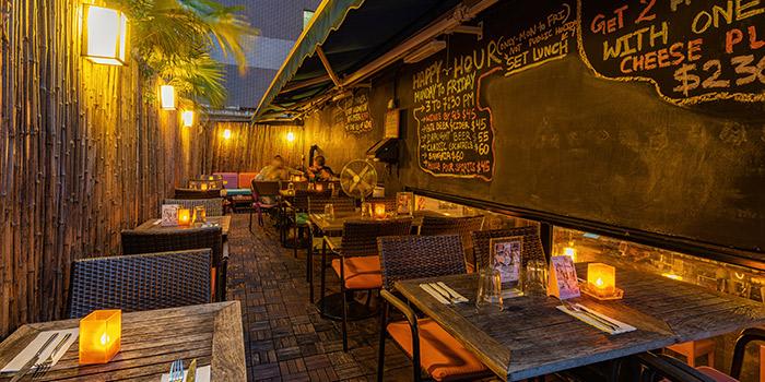 Dining Area, Aberdeen Street, Central, Hong Kong
