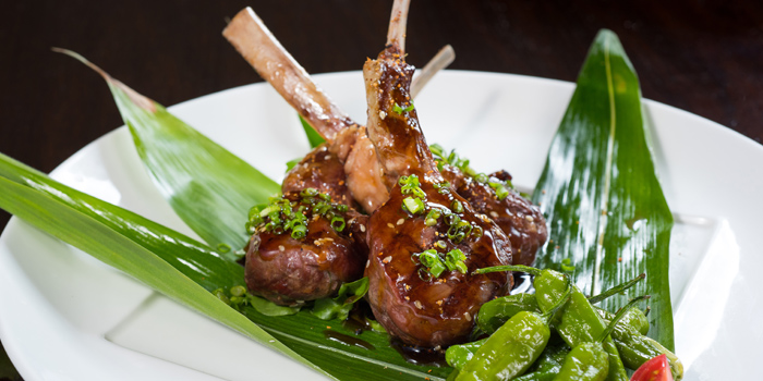 Grill Lamb from Koi Restaurant and Lounge at 39th floor, Sathorn Square Building 98 North Sathorn Road Silom, Bangrak Bangkok