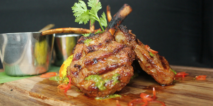 Harissa spiced lamb cutlets from SALA Restaurant & Bar in Maikhao, Phuket, Thailand