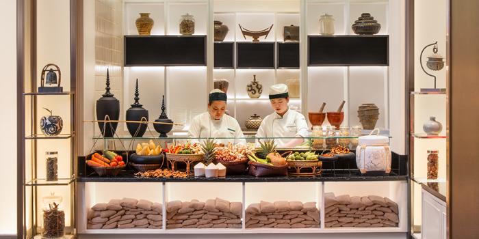 Kitchen Area of Basil at Sheraton Grande Hotel, Bangkok