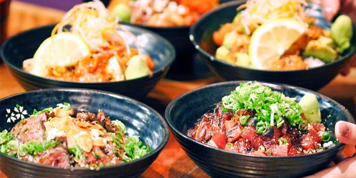 Donburi from Koji Sushi Bar (Pickering Street) at Nankin Row in Chinatown, Singapore