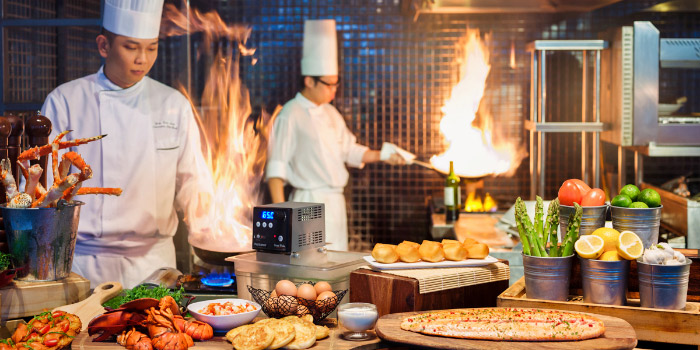 Kitchen Show from Lime Restaurant in PARKROYAL on Pickering in Chinatown, Singapore