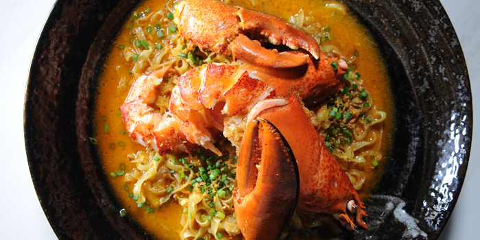 Live Lobster Stir Fried with Fresh Egg Noodles from Paste Bangkok at Gaysorn Village 999 Phloen Chit Rd Lumphini, Pathum Wan Bangkok