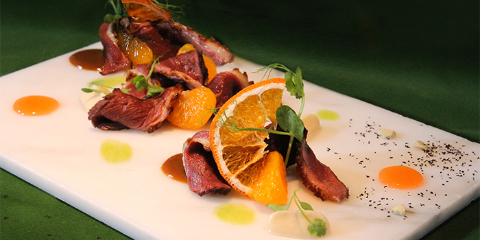 Orange Ginger Tea Smoked French Duck Breast with Celeriac & Mandarin Orange, Van Gogh Senses, Tsim Sha Tsui, Hong Kong