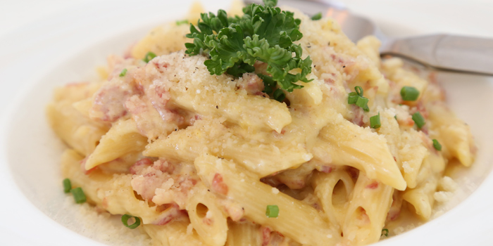 Penne Carbonara from Peppe Italian Food & Wine at 1954/3 Soi 60 Sukhumvit Rd Bang Chak,Phra Khanong Bangkok