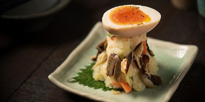 Potato Salad with Smoked Mackerel and Egg, UOHARU, Central, Hong Kong