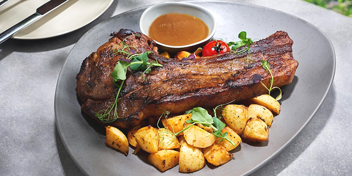 Tomahawk Ribs from Arbora (formerly Spuds & Aprons) at Faber Peak Singapore in Harbourfront, Singapore