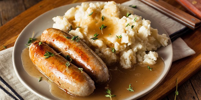 Sausage and Mash from Cask and Bangers in Clarke Quay, Singapore