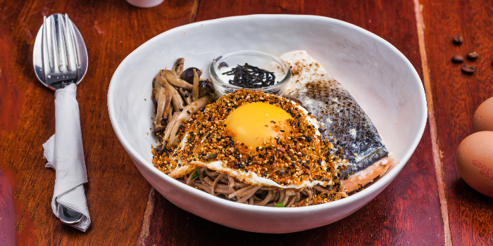 Salmon Soba from Columbus Coffee Co. in Thomson, Singapore
