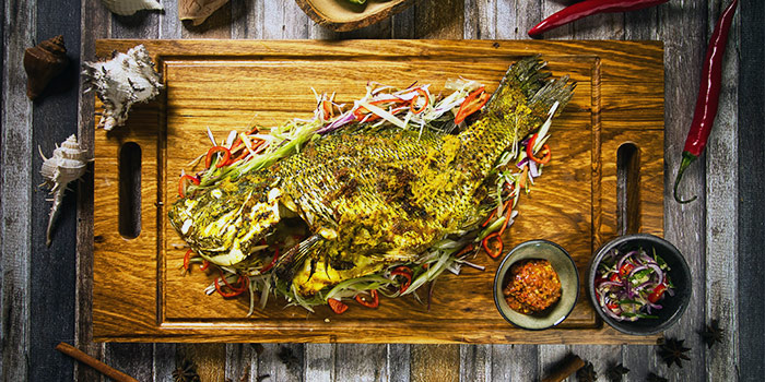 Grilled Whole Fish from FAT CHAP at Suntec Tower 4 in Promenade, Singapore
