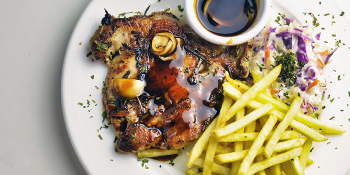 Signature Chicken Chop from Finders Keepers Bar at Tanjong Pagar, Singapore
