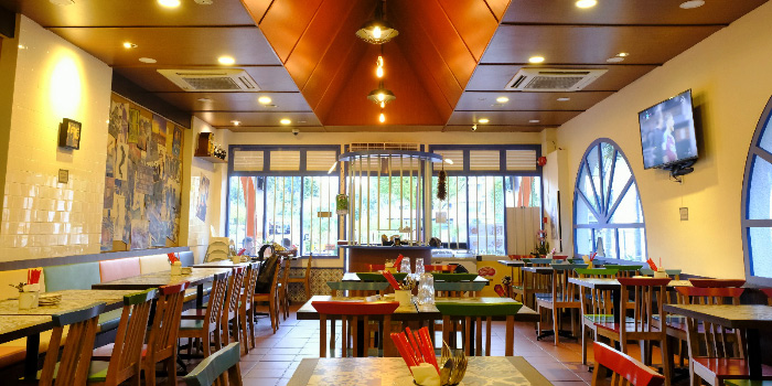 Seating Area of Good Time Eat Drink in East Coast, Singapore