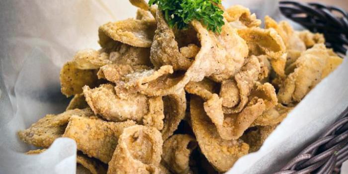 Crispy Chicken Skin from Grapevine Bar & Restaurant in Serangoon, Singapore