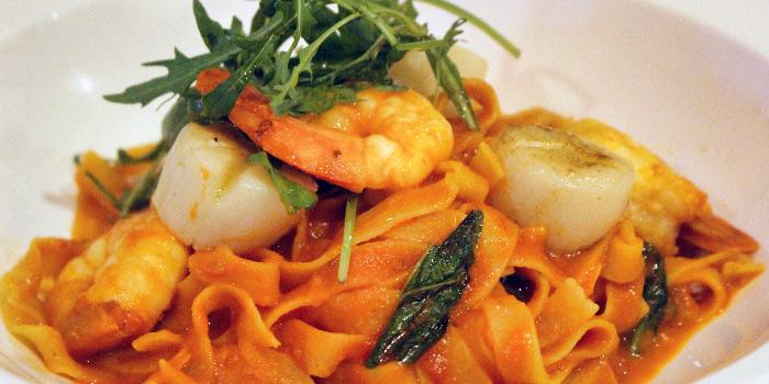 Fettucine Con Gamberoni from Gustoso Ristorante Italiano in Seletar, Singapore