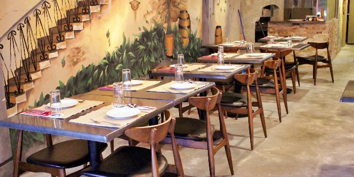 Interior of Gustoso Ristorante Italiano in Seletar, Singapore