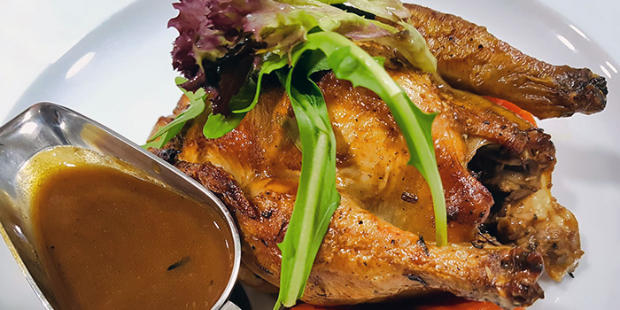 Roasted Chicken with Porcini Sauce from Gustoso Ristorante Italiano in Seletar, Singapore