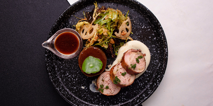 Baby Chicken Roulade from Halcyon & Crane at Paragon Shopping Centre in Orchard, Singapore