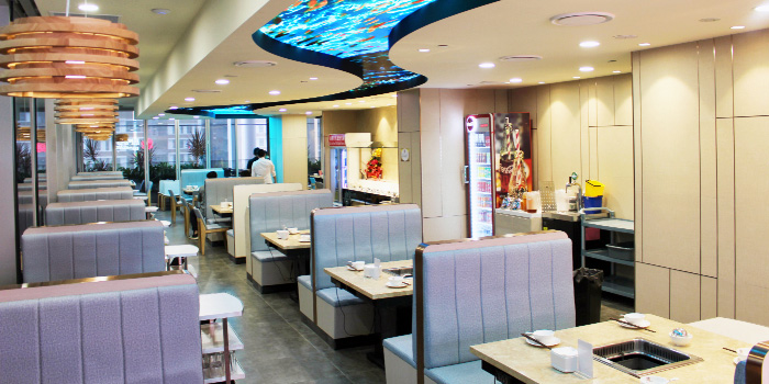 Interior of King of Hot Pot at Oasis Terraces in Punggol, Singapore