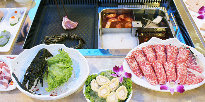 Steamboat from King of Hot Pot at Oasis Terraces in Punggol, Singapore