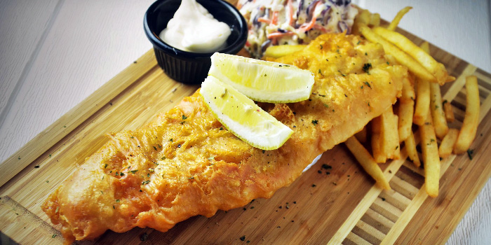 Fish & Chips from Meats N Malts at BreadTalk IHQ in Tai Seng, Singapore