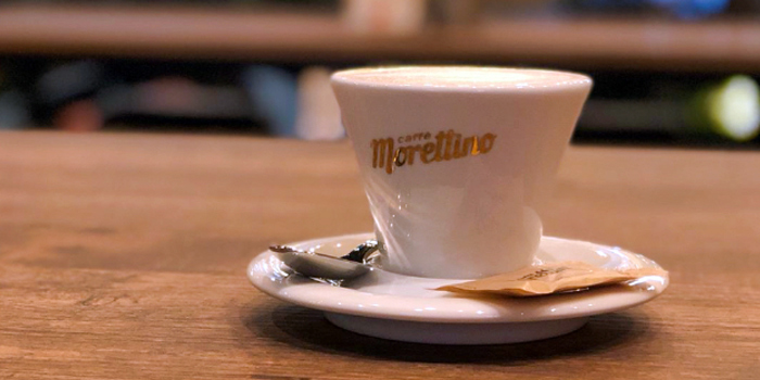 Coffee from Morettino Italian Café & Bistro at 100 AM in Tanjong Pagar, Singapore