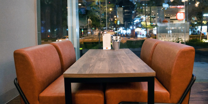 Couch Seats of Morettino Italian Café & Bistro at 100 AM in Tanjong Pagar, Singapore