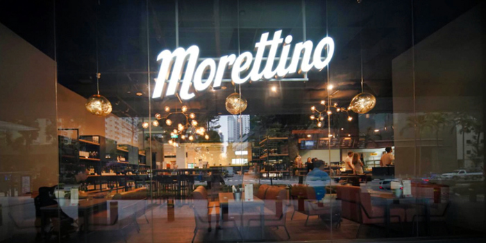 Shopfront from Morettino Italian Café & Bistro at 100 AM in Tanjong Pagar, Singapore