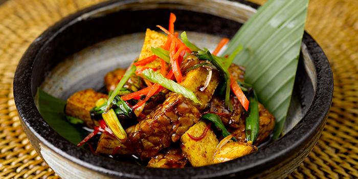Spicy Indonesian Tempe from Rumah Rasa at The Bay Hotel in Telok Blangah, Singapore