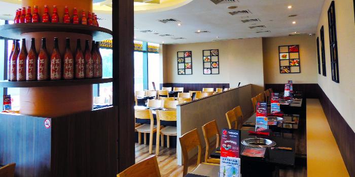 Interior of Tenkaichi Japanese BBQ Restaurant (Marina Square) in Promenade, Singapore