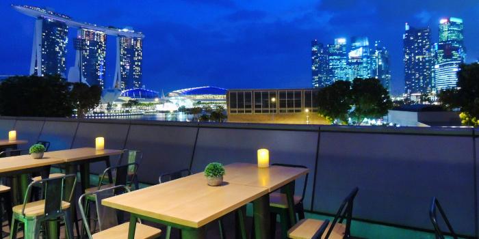 Night View Seating of Tenkaichi Japanese BBQ Restaurant (Marina Square) in Promenade, Singapore