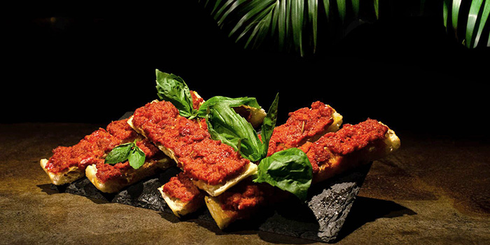 Nudja Bruschetta from The Other Roof in Chinatown, Singapore