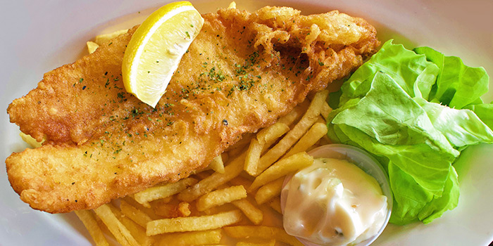 Fish & Chips from The Public House in Boat Quay, Singapore