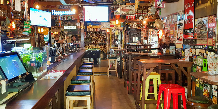 Interior of The Public House in Boat Quay, Singapore