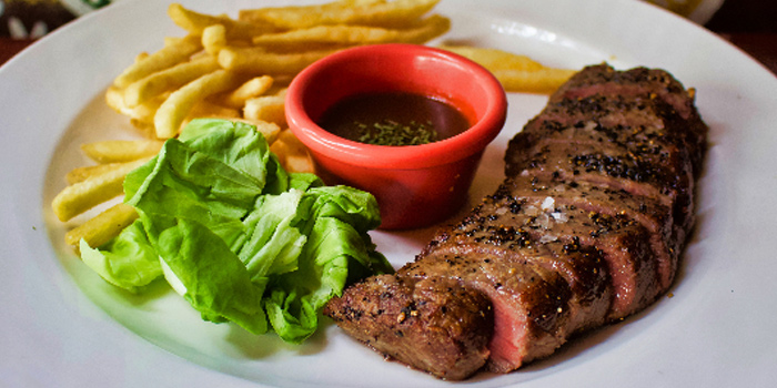 Striploin Steak from The Public House in Boat Quay, Singapore