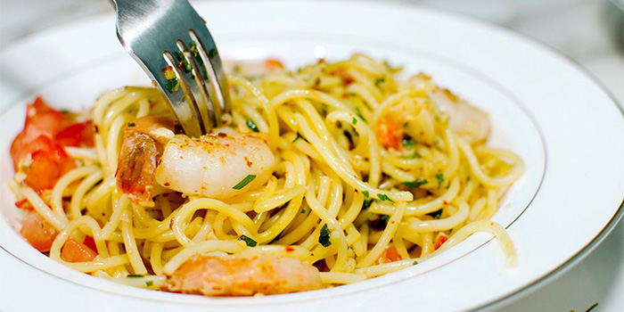 Seafood Aglio Olio from Wild Blooms in Serangoon, Singapore