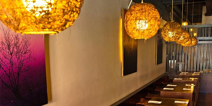 Interior of Yumeya Japanese Restaurant in Robertson Quay, Singapore