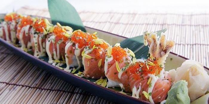 Salmon Sushi from Yumeya Japanese Restaurant in Robertson Quay, Singapore