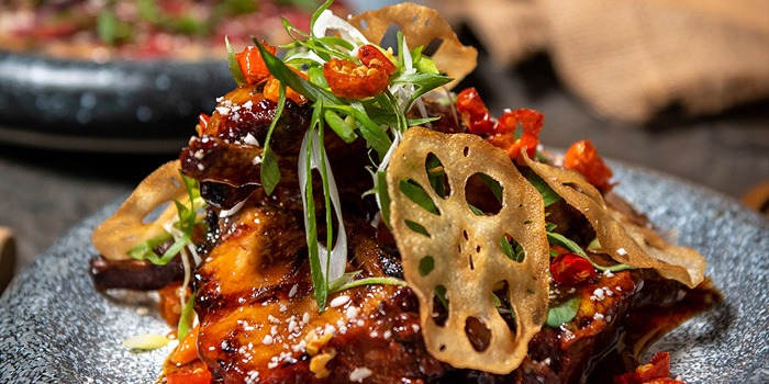 Grilled Pork Ribs at Skye Restaurant