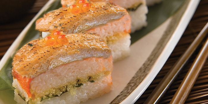 Salmon Belly Oshizushi from 樂膳 RAKUZEN at Millenia Walk in Promenade, Singapore