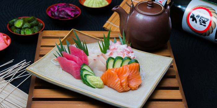 Sashimi from Orchid Cafe at Sheraton Grande Hotel, Bangkok