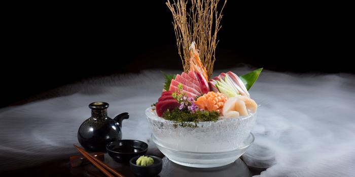 Sashimi from Koi Restaurant and Lounge at 39th floor, Sathorn Square Building 98 North Sathorn Road Silom, Bangrak Bangkok