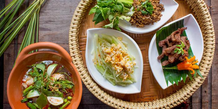 Selection of Food from Basil at Sheraton Grande Hotel, Bangkok