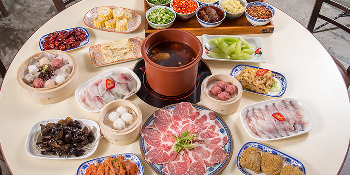 Food Spread, A Fat Hotpot, Tsim Sha Tsui, Hong Kong