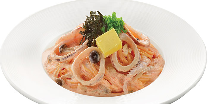 Squid Spaghettini Cod Roe Cream Sauce, GOCHISO, Tsim Sha Tsui, Hong Kong